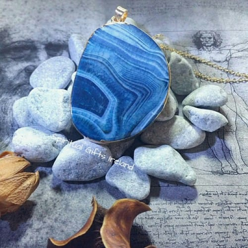 Blue Agate Inanna Pendant
