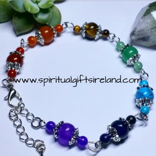Chakra Gemstone Crystal Vintage Style Bracelet
