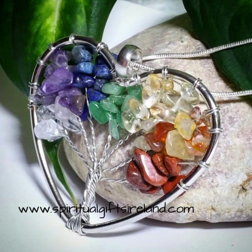 Chakra Heart Abundance Tree Necklace