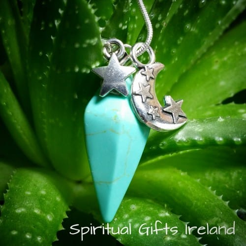 Howlite Bright Star Pendant Necklace