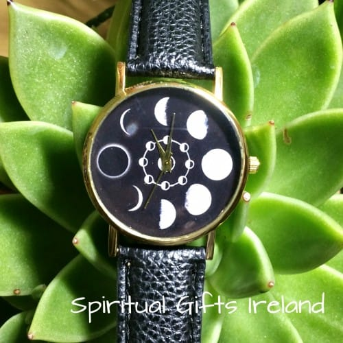 Moon Phases Lunar Watch Black