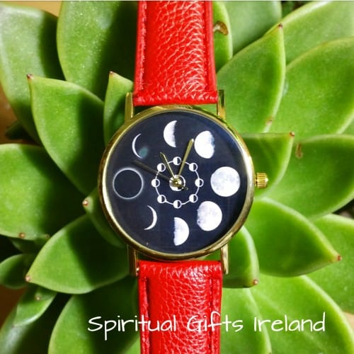 Moon Phases Lunar Watch Red