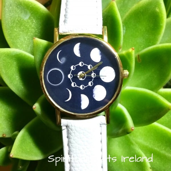 Moon Phases Lunar Watch White