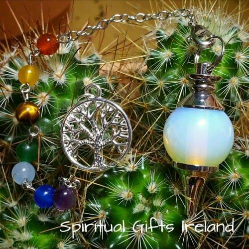 Chakra Opalite Tree of Life Pendulum