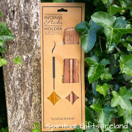 Twin Pack Sandalwood Incense Sticks with Ash Catcher