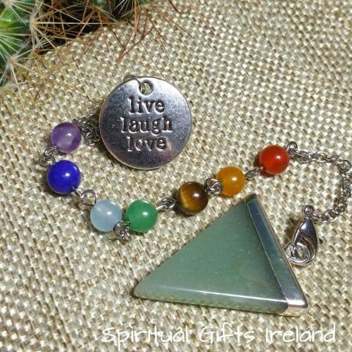Green Aventurine Trinity Chakra Pendulum