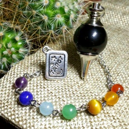 Chakra Black Onyx Tarot Dowsing Pendulum