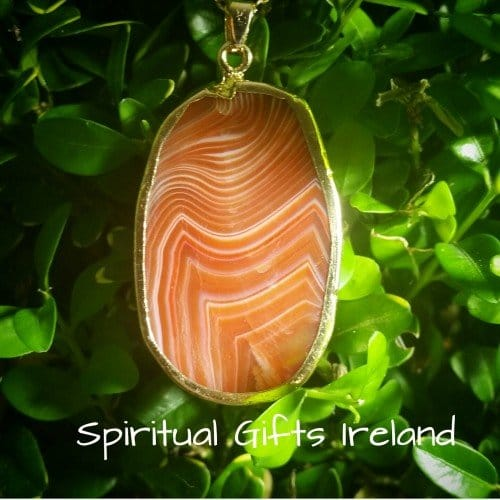 Inanna Orange Agate Gemstone Pendant Necklace