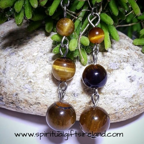 Tigers Eye Crystal Earrings