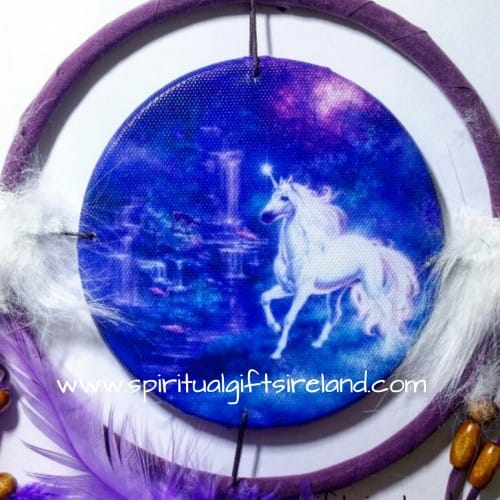 Unicorn Dreamcatcher Large Purple