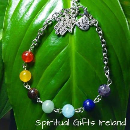 Chakra Bracelet Handmade Large Bead