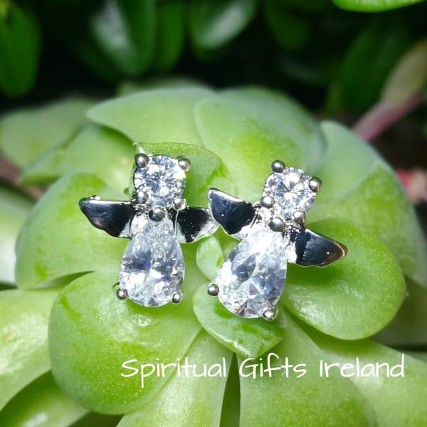 Angel Stud Earrings Sterling Silver