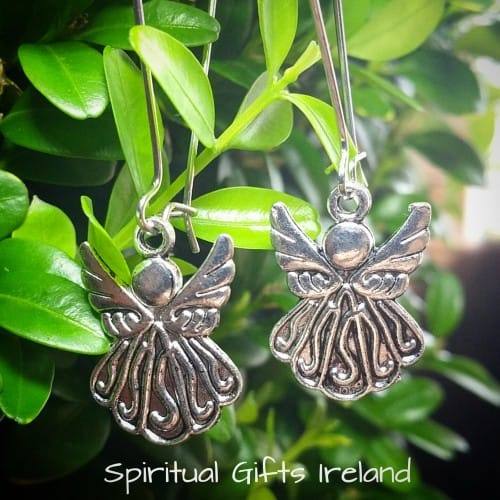 Tibetan Silver Angel Friendship Earrings