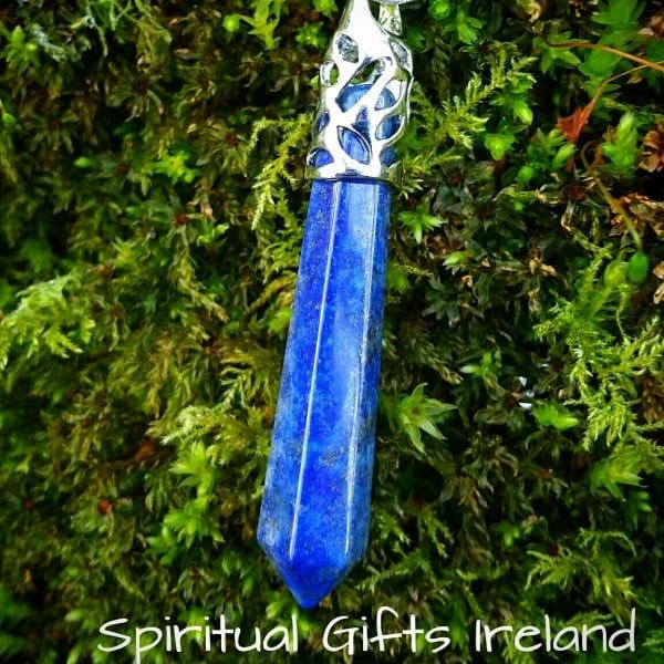 Lapis Lazuli Wand Pendant