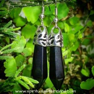 Black Agate Gemstone Earrings