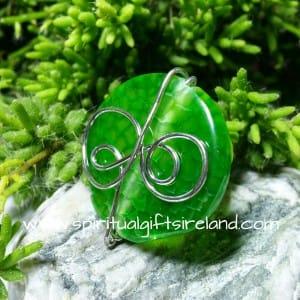 Green Snakeskin Quartz Ring Adjustable