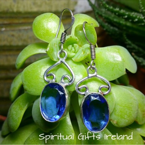 Iolite Ocean Sterling Silver Gemstone Earrings