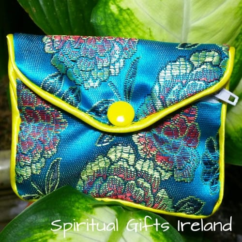 Handcrafted Satin Purse Turquoise