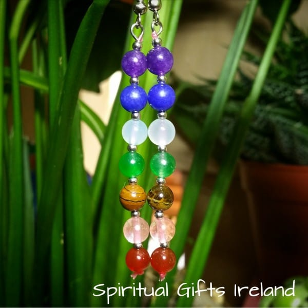 Chakra Balancing Gemstone Earrings
