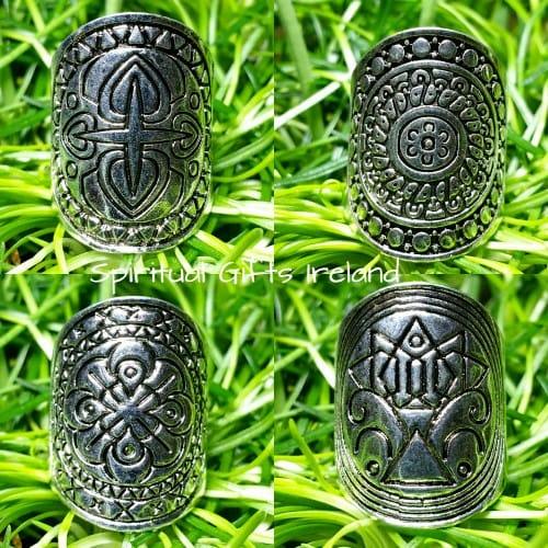 Tibetan Silver Tribal Rings 4 Piece Set