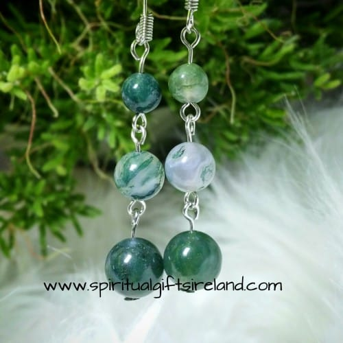 Moss Agate Earrings