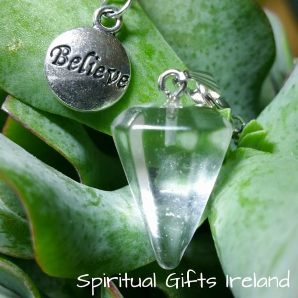 Believe Clear Quartz Pendulum