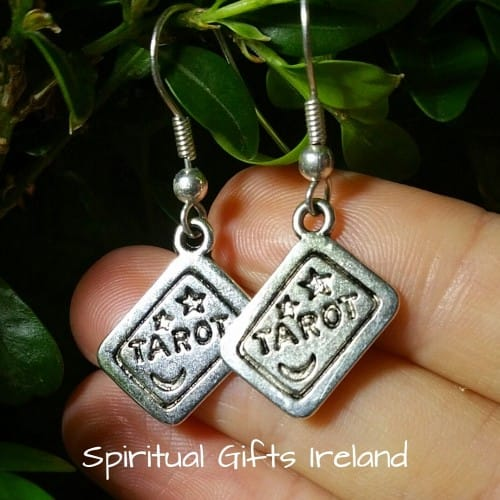 Tibetan Silver Tarot Card Earrings