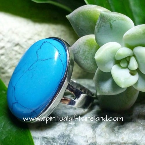 Turquoise Self Discovery Adjustable Gemstone Crystal Ring