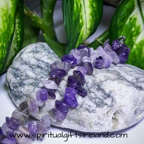 Amethyst Double Strand Crystal Bracelet
