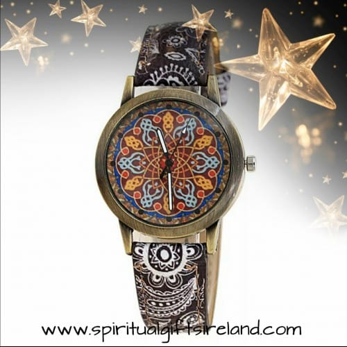 Boho Antique Bronze Mandala Quartz Watch