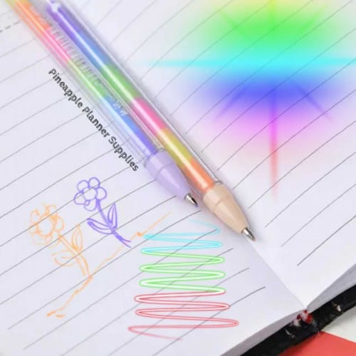 Gel Pen Multi Coloured Rainbow
