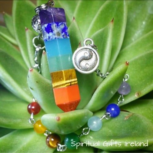 Chakra Wand Crystal Gemstone Pendulum