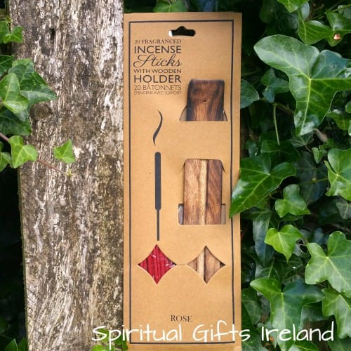 Twin Pack Rose Incense Sticks with Ash Catcher