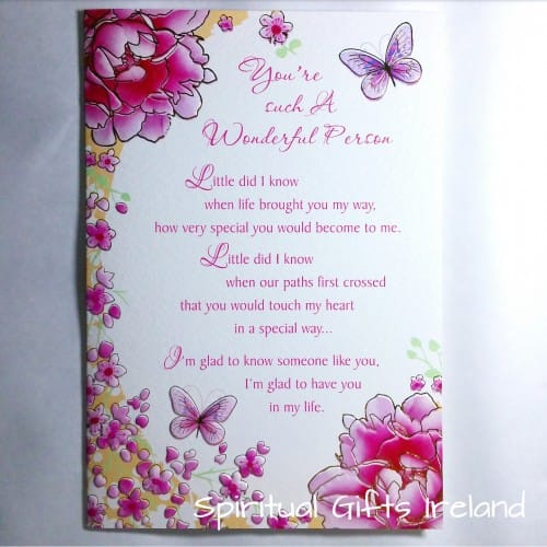 Wonderful Person Inspirational Meaningful Greeting Card