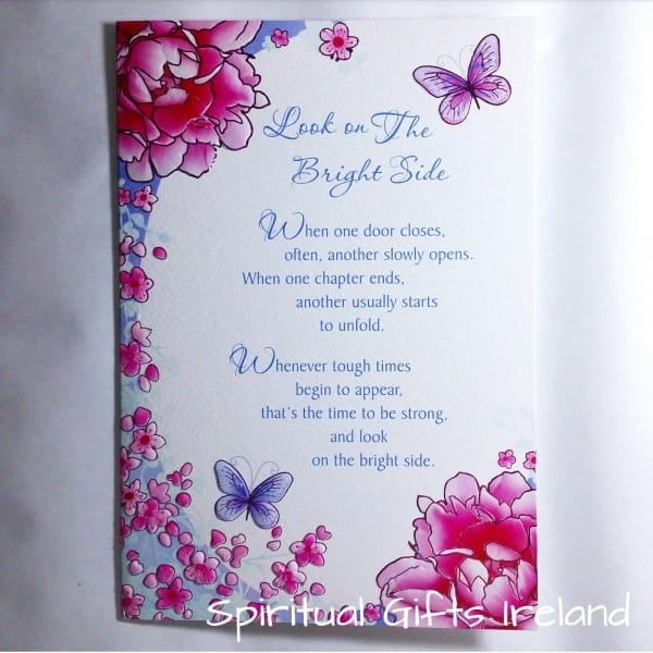 Look On The Bright Side Inspirational Greeting Card
