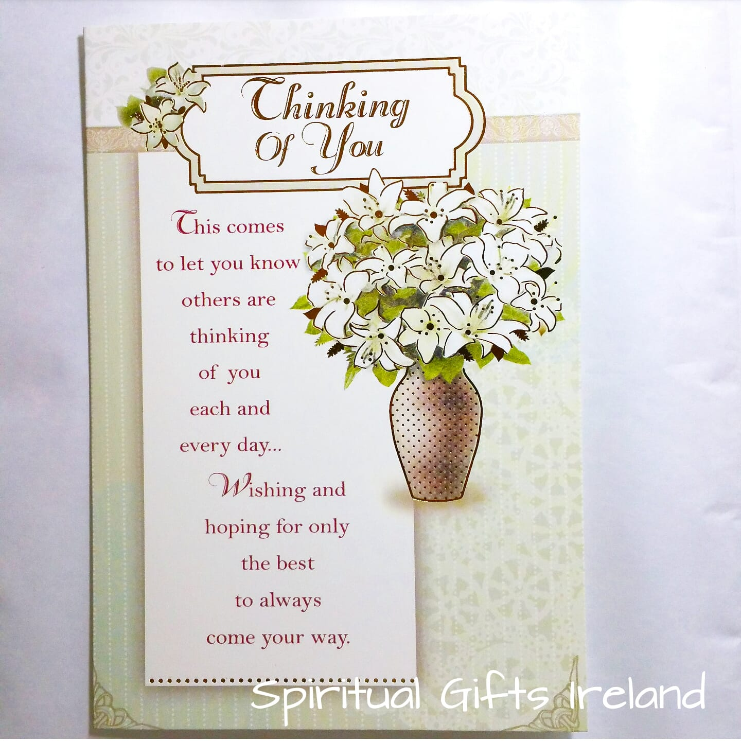 Thinking Of You Inspirational Greeting Card Spiritual Gifts Ireland