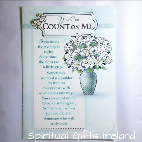 Greeting cards online archives spiritual gifts ireland you can count on me greeting card m4hsunfo