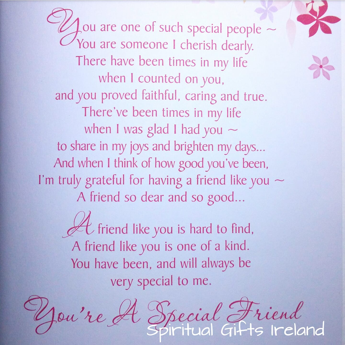 Special friends inspirational greeting card spiritual gifts ireland special friends inspirational greeting card screenshot2016 06 06 19 43 19 kristyandbryce Image collections