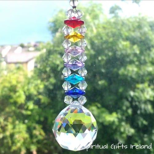 Swarovski Hanging Crystal Chakra Rainbow Suncatcher