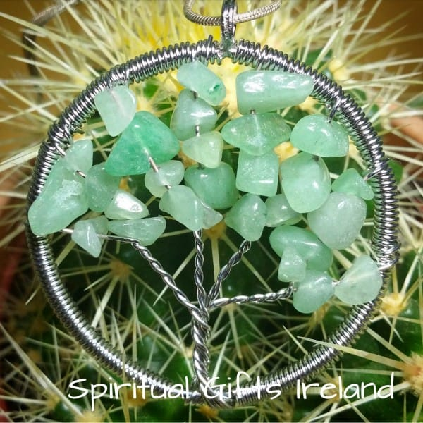 Aventurine Green Tree of Life Pendant