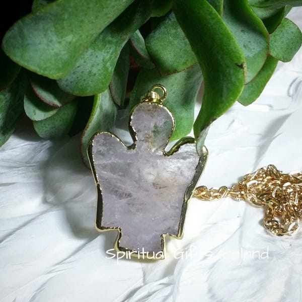 Clear Quartz Guardian Angel Pendant