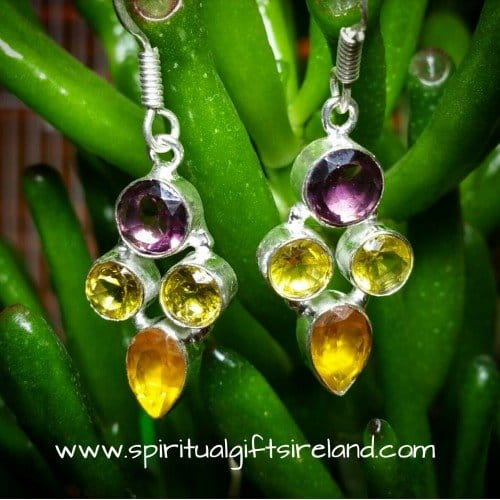 Handcrafted Sterling Silver Gemstone Earrings