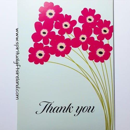 Thank You Card Wild Flowers