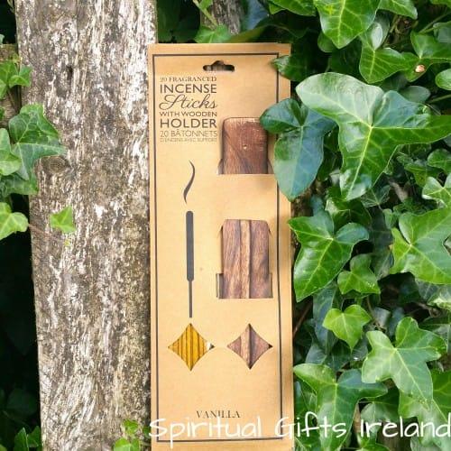 Vanilla Incense Sticks with Ash Catcher