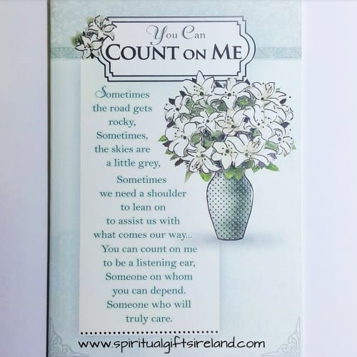 You Can Count On Me Card