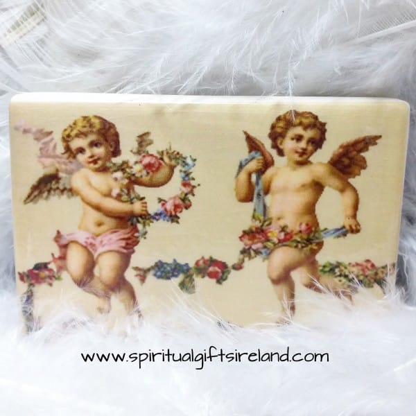 Cherub Handmade Pottery Magnets Vintage Cherubs