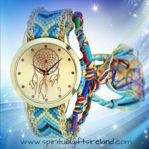 Ethnic Dreamcatcher Vegan Friendly Cotton Strap Quartz Watch