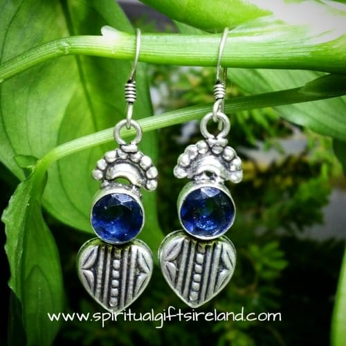 Iolite Sterling Silver Earrings