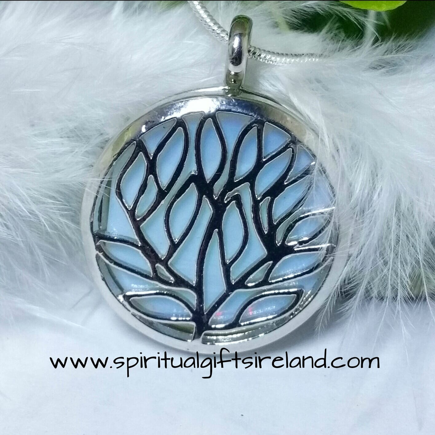 Opalite Fairy Moon Crystal Pendant Necklace