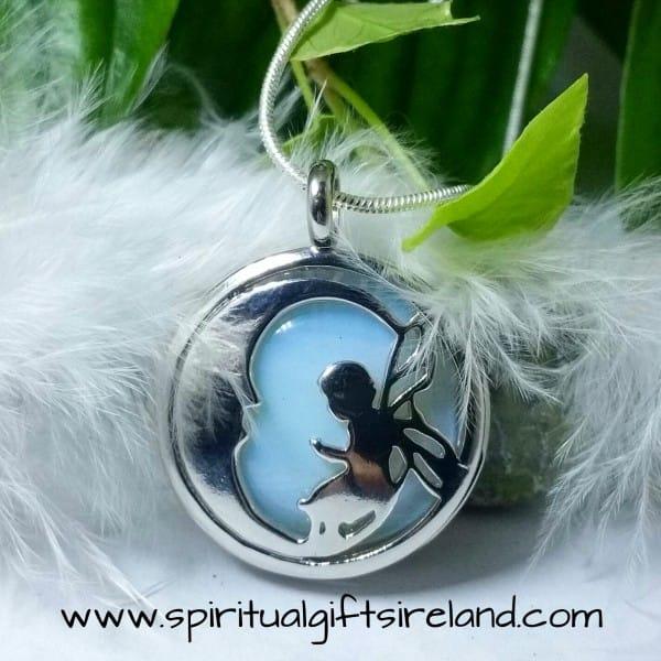 Opalite Fairy Moon Crystal Pendant